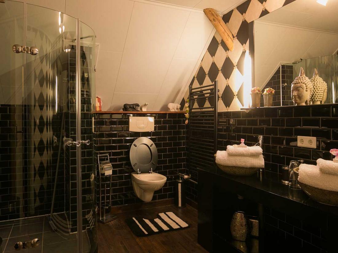 Landhotel Aquamarijn hotelaanbieding drenthe coevorden badkamer smaragd