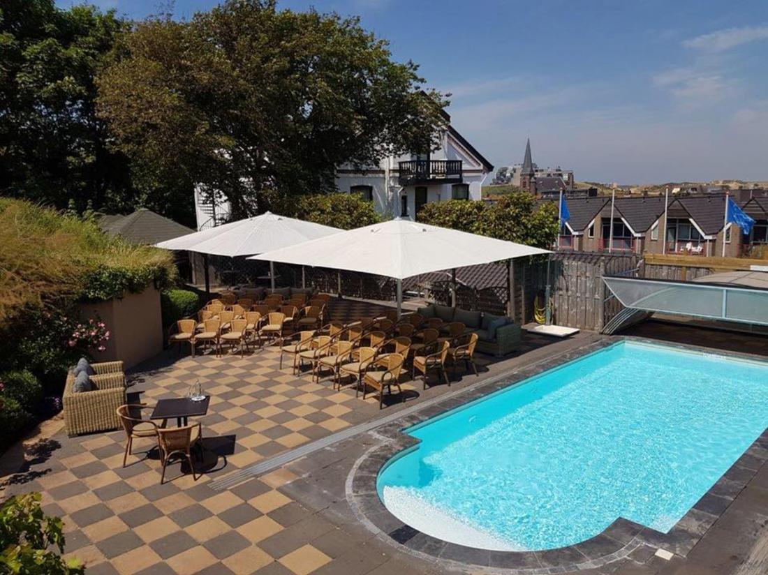 Hotel Villa Klugthe WijkaanZee Terras