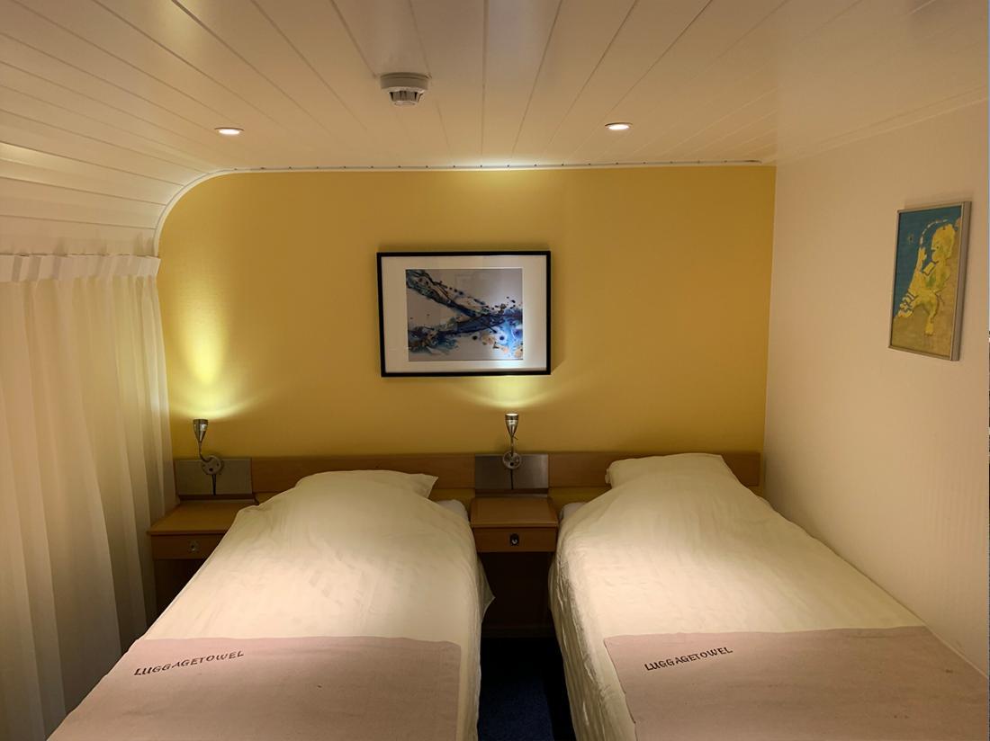 hotelboat merlijn hotelkamer twin