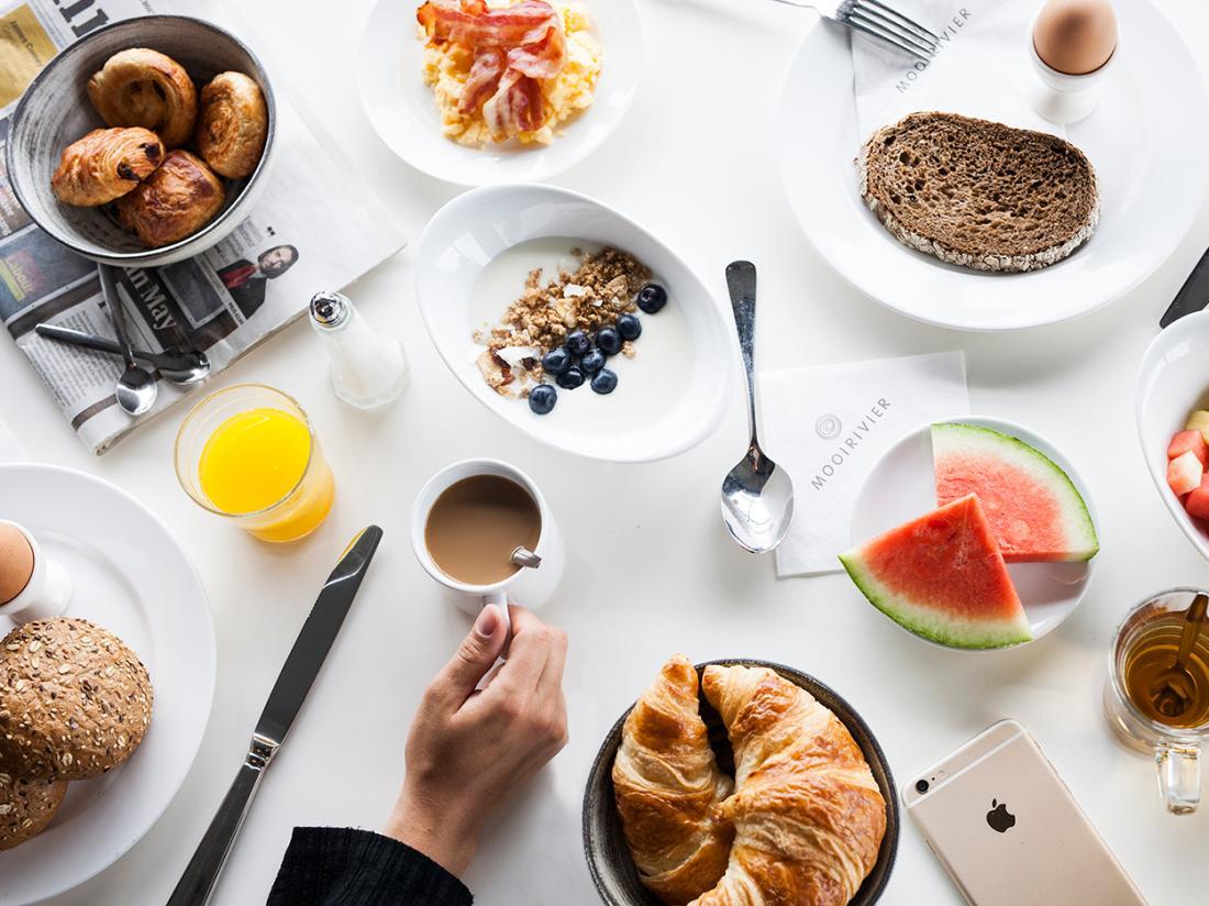 Ontbijt Hotel Mooirivier Genieten Overnachting