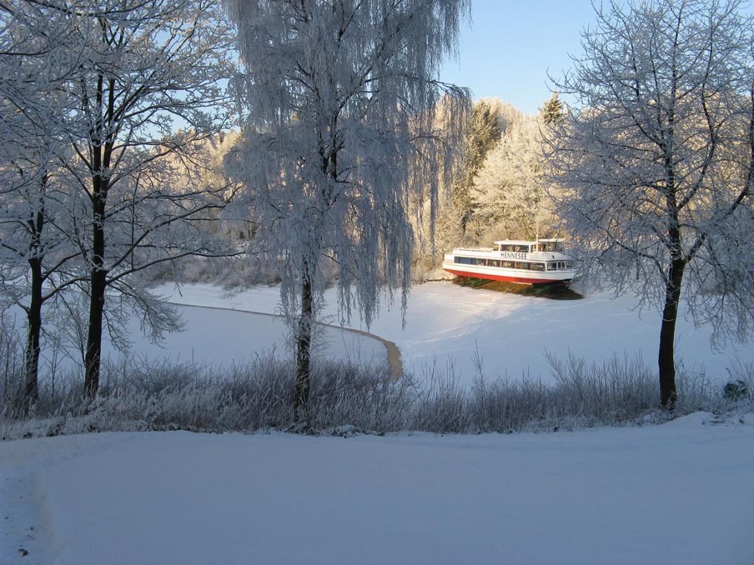 Weekendjeweg Meschede Mennesee winter omgeving