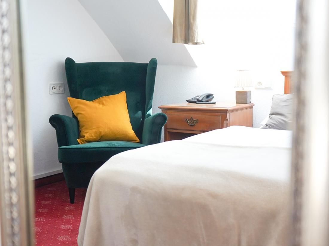 Duitsland Weekendjeweg Hotelkamer Zitje