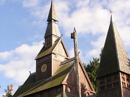 Hotel Villa Opdensteinen Harz Duitsland Kerk