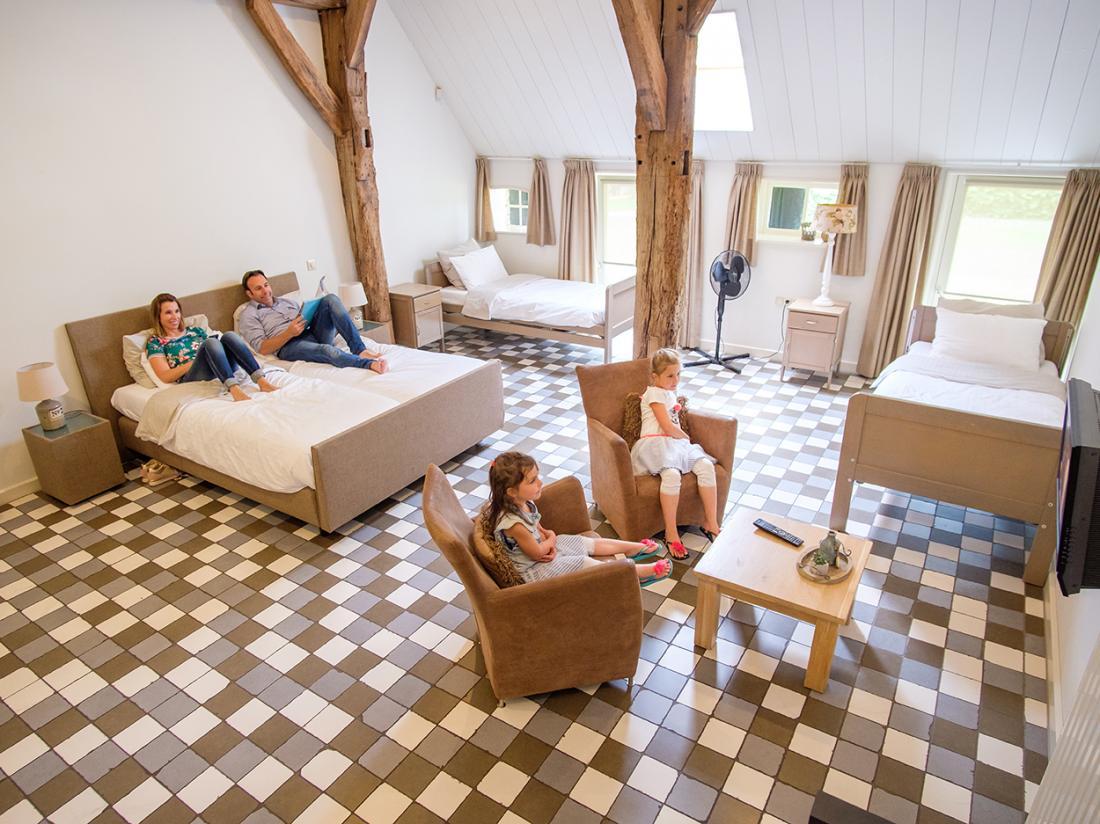 Slaapkamer de Zwiese hotelovernachting