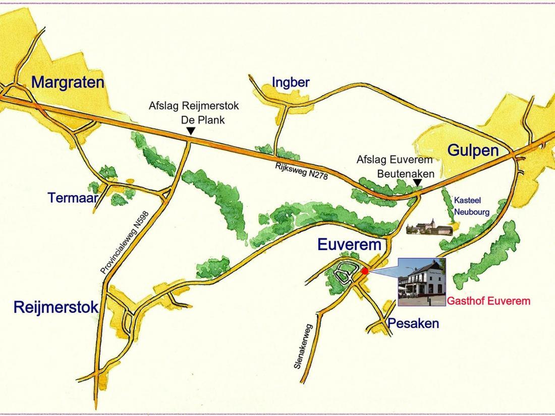Weekendjeweg Limburg Kaart