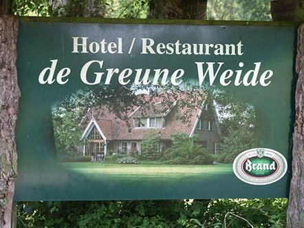 Landhotel de Greune Weide bord