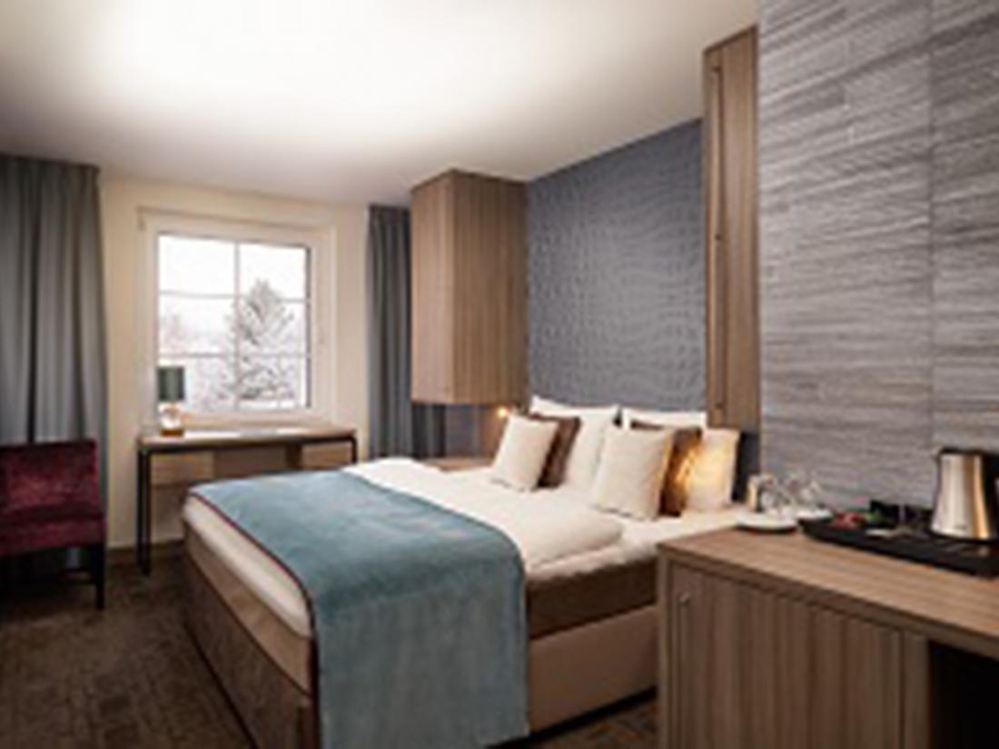 Van der Valk Hotel Spornitz Duitsland slaapkamer