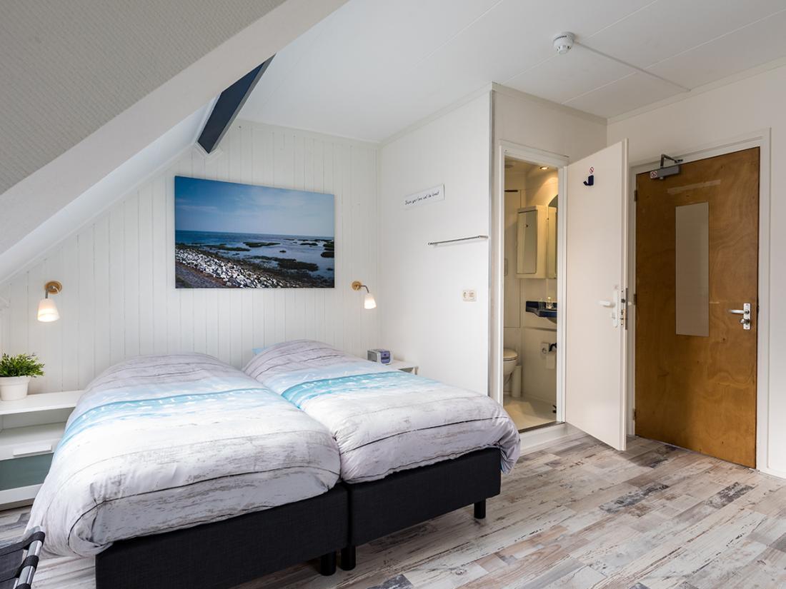 Slaapkamer overnachting Residentie Terschelling
