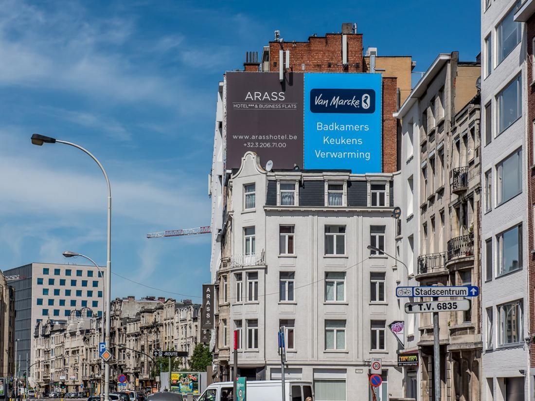 Arass Hotel Antwerpen Aanzicht Belgie Hotelaanbieding Zijaanzicht